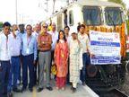 मुंबई और रींगस ट्रैक पर हुआ 110km/h स्पीड ट्रायल, मई से चलने लगेंगी इलेक्ट्रिक ट्रेन|जयपुर,Jaipur - Dainik Bhaskar