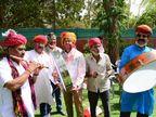 बीकानेर में होली पर जबरदस्त उत्साह; कोरोना से बेखौफ होकर सड़कों पर उतरे हजारों लोग, परकोटे में पारम्परिक आयोजन|बीकानेर,Bikaner - Dainik Bhaskar
