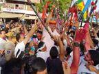 कोरोना की सख्ती के बावजूद जारी रही बरसों पुरानी परम्परा, केन्द्रीय मंत्री शेखावत ने ढोल बजा गाए फाग गीत|जोधपुर,Jodhpur - Dainik Bhaskar