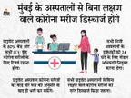 मुंबई में निजी अस्पतालों में 80% बेड कोविड पेशेंट्स के लिए रिजर्व, वार्ड वॉर रूम की मंजूरी से ही मरीज भर्ती होंगे|महाराष्ट्र,Maharashtra - Dainik Bhaskar