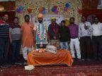 साफा माला पहना कर हुआ सम्मान, बोले- अग्रवाल समाज में हेल्थ बड़ा इश्यू, खेलों से जोड़ने पर देंगे जोर|भरतपुर,Bharatpur - Dainik Bhaskar