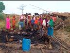 भागलपुर के पीरपैंती में होली की रात हुआ हादसा; 2 बेटियां और 1 बेटे को बचाने में माता-पिता भी बुरी तरह जले|भागलपुर,Bhagalpur - Dainik Bhaskar
