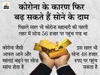सोना फिर 45 हजार रुपए पर पहुंचा, अभी और बढ़ सकते हैं दाम; इस हफ्ते ही 449 रुपए महंगा हुआ|बिजनेस,Business - Dainik Bhaskar