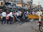 भोपाल में शिवराज सिंह के खुली जीप में निकलने पर जगह-जगह रोका गया ट्रैफिक; घर जाने की जल्दी में रास्ते खुलते ही लगा जाम|भोपाल,Bhopal - Dainik Bhaskar
