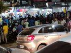 राऊ में शराब दुकान पर भीड़, 24 घंटे के लिए दुकान बंद, आबकारी उपनिरीक्षक सस्पेंड, एक को नोटिस|इंदौर,Indore - Dainik Bhaskar