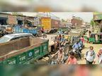 नगीना-होडल रोड पर लगा 3 घंटे जाम, भाजपा जिलाध्यक्ष भी जाम में हुए परेशान|नूंह,Nuh - Dainik Bhaskar