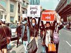 म्यांमार में सेना के खिलाफ उतरी 22 साल की ब्यूटी क्वीन, बोलीं- दुनिया हमारी मदद करे|विदेश,International - Dainik Bhaskar