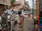 दुर्ग की सड़कों पर सन्नाटा, कुछ लोग निकले तो पुलिस ने उनका समझाया; जिले में आज से 14 अप्रैल तक टोटल लॉकडाउन|भिलाई,Bhilai - Dainik Bhaskar
