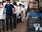 अलवर शहर में सड़क पर ड्रम पड़े मिले तो कलेक्टर ने नगर परिषद के कमिश्नर को सीधे फोन मिलाया और कहा- सामान जब्त करें|अलवर,Alwar - Dainik Bhaskar
