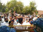 कांग्रेसी बोले- मोदी सरकार अपने पूंजीपति साथियों के इशारे पर देश के अन्नदाता की जायज मांगों को मानने को तैयार नहीं|फरीदाबाद,Faridabad - Dainik Bhaskar