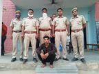 पुलिस पर फायरिंग करने वाला बजरी माफिया गिरफ्तार, 1 अप्रैल कोआरएसी जवान कोगोली मार किया था घायल|भरतपुर,Bharatpur - Dainik Bhaskar