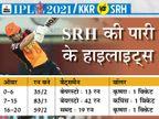 हैदराबाद नहीं बना पाया सही बैटिंग ऑर्डर, आंद्रे रसेल बॉलिंग में बने कैप्टन मोर्गन के ट्रम्प कार्ड|IPL 2021,IPL 2021 - Dainik Bhaskar