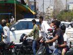 लॉकडाउन के लिए सुबह दी गई ढील में सड़कों पर उमड़े लोग, जाम लगा; बाजारों में पैर रखने की जगह नहीं|जबलपुर,Jabalpur - Dainik Bhaskar