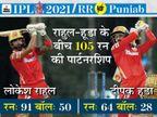 दो कप्तान ने एक ही मैच में अपनी-अपनी टीम के लिए 2000 रन पूरे किए; सैमसन ने डिविलियर्स के रिकॉर्ड की बराबरी की|IPL 2021,IPL 2021 - Dainik Bhaskar