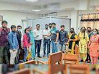 परीक्षा में आ रही समस्याओं के समाधान के लिए कुल सचिव को सौंपा ज्ञापन|जींद,Jind - Dainik Bhaskar