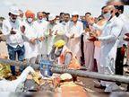 सेक्टर -15 सब्जी मंडी से गैस पाइप लाइन बिछाने का काम शुरू पंचकूला,Panchkula - Dainik Bhaskar
