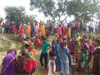खगड़िया में दुकान से सामान खरीद कर लौट रही थी दोनों, तभी हुआ हादसा; लोगों ने किया NH पर हंगामा खगरिया,Khagaria - Dainik Bhaskar