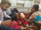 पटना के पालीगंज PHC के बाहर टेम्पो में तड़पती रही महिला, एम्बुलेंस में भी ऑक्सीजन नहीं, मौत पर बवाल|बिहार,Bihar - Dainik Bhaskar