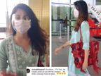 रिया चक्रवर्ती को मुंबई एयरपोर्ट पर देख बौखलाए सुशांत के फैन्स, बोले-किसके पैसों पर छुट्टियां मनाने जा रही हो? बॉलीवुड,Bollywood - Dainik Bhaskar