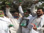 कार्यकर्ताओं ने एक-दूसरे के चेहरे पर लगाया गुलाल, बांटीं मिठाइयां, उत्साह में लगाए नारे|बिहार,Bihar - Dainik Bhaskar
