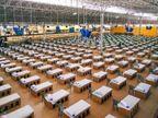 इंदौर में खुले मैदान को 5 दिन में बनाया अस्थायी कोविड सेंटर, पहले चरण में 500 बिस्तर लगाए; कुल 2000 बेड लगेंगे|इंदौर,Indore - Dainik Bhaskar