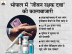 12 से 20 हजार रुपए में बेच रहे थे इंजेक्शन, 4 लोग पकड़े; आरोपियों में दो मेडिकल स्टोर से जुड़े और एक डाॅक्टर भोपाल,Bhopal - Dainik Bhaskar