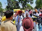 AAP के MLA नेबेअदबी मामलेकीनिष्पक्ष जांच को लेकर CM कोठी का घेराव करने जा रहे थे तो पुलिस ने रोका, नारेबाजी की|चंडीगढ़,Chandigarh - Dainik Bhaskar