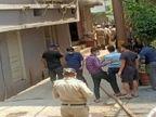 दुकान से धुआं उठता देख लोगों ने किया फायर ब्रिगेड को फोन, शटर खुला तो और ज्यादा फैली लपटें|रायपुर,Raipur - Dainik Bhaskar