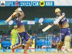 रैना ने हरभजन के पैर छूकर मैच खेला, पंजाब-हैदराबाद के मैच में 6 छक्के लगे, जो अकेले कमिंस और रसेल ने जड़ दिए IPL 2021,IPL 2021 - Dainik Bhaskar
