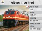 पश्चिम मध्य रेलवे ने 10वीं पास कैंडिडेट्स से मांगे आवेदन, 716 पदों पर भर्ती के लिए 30 अप्रैल तक करें अप्लाई|करिअर,Career - Dainik Bhaskar