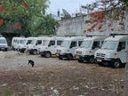 ठेका नहीं होने से इंदौर में पचास एंबुलेंस का नहीं हो रहा उपयोग, फरवरी से बेकार खड़ी है|इंदौर,Indore - Dainik Bhaskar