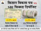 पोस्ट ऑफिस की किसान विकास पत्र स्कीम या SBI फिक्स्ड डिपॉजिट, जानें कहां निवेश करने पर मिलेगा ज्यादा फायदा|बिजनेस,Business - Money Bhaskar