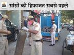 अस्पताल में कुछ घंटों की ऑक्सीजन बची थी, सप्लाई रुकी तो दिल्ली पुलिस ने ग्रीन कॉरिडोर बनाकर दो घंटे में पहुंचाए 58 सिलेंडर|DB ओरिजिनल,DB Original - Dainik Bhaskar