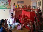 उन्नाव में विदाई से पहले दुल्हन ने किया मतदान, अमेठी में सात फेरे लेने से पहले बूथ पर पहुंची युवती लखनऊ,Lucknow - Dainik Bhaskar
