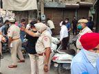 जालंधर में पुलिस ने जबरन बंद कराई दुकानें, बाजारों से घर खदेड़े लोग; लोकल ऑर्डर न आने से मची अफरातफरी|जालंधर,Jalandhar - Dainik Bhaskar