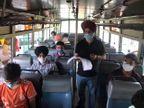 प्रोफेसर ने बस में लगाई स्टूडेंट्स की क्लास, बोले- पंजाब सरकार कहती है, बसों में कोरोना नहीं फैलता जालंधर,Jalandhar - Dainik Bhaskar