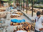 दिल्ली में शवों को जलाने के लिए श्मशान घाटों पर लकड़ी की किल्लत, हरियाणा से मंगवाई जा रहीं लकड़ियां दिल्ली + एनसीआर,Delhi + NCR - Dainik Bhaskar