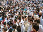 मतगणना स्थलों पर उमड़ी भीड़ ने तोड़े सारे प्रोटोकाल; धरे रह गए प्रशासन के आदेश, दावे और वादे, सोशल डिस्टेंसिंग की उड़ी धज्जियां|आगरा,Agra - Dainik Bhaskar