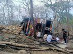 बरगी के बंजारी घाटी में फिर हुआ हादसा, 1 की मौत, 5 घायल; हल्दी लेकर नांदेड़ से असम जा रहा था ट्रक|जबलपुर,Jabalpur - Dainik Bhaskar