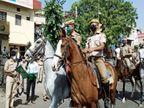 रेड अलर्ट जन अनुशासन पखवाड़ा; सुबह रूट मार्च निकाल कर किया जागरूक, गाइड लाइन उल्लंघन पर कार्रवाई भी की|अजमेर,Ajmer - Dainik Bhaskar