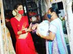 कोरोना के बीच किन्नर जरूरतमंदों को राशन, मास्क और सैनिटाइजर बांट रहे; अब तक 80 हजार लोगों को मदद पहुंचाई|मुंबई,Mumbai - Dainik Bhaskar