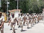 100 जवानों ने शहर के 10 से ज्यादा क्षेत्रों में निकाला मार्च, लोगों से कोरोना के प्रति जागरुक रहने की अपील की|चित्तौड़गढ़,Chittorgarh - Dainik Bhaskar