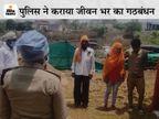 शहडोल में जाति बनी दीवार तो पुलिस ने थाने के मंदिर में कराई प्रेमी जोड़े की शादी, सिपाही ने पंडित बनकर रीति-रिवाज निभाए|मध्य प्रदेश,Madhya Pradesh - Dainik Bhaskar