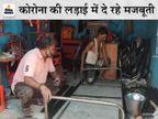 झूले-सोफा कारीगर को इंदौर में रोजाना लोहे के 100 पलंग बनाने का ऑर्डर, 12 मजदूर दिन-रात लगाए, फिर भी डिमांड पूरी नहीं|मध्य प्रदेश,Madhya Pradesh - Dainik Bhaskar