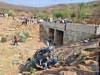 तेज रफ्तार वैन अनियंत्रित होकर पुल से गिरी, 2 की मौत, 6 यात्री घायल|रीवा,Rewa - Dainik Bhaskar