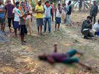 पानी के ऊपर लोगों ने देखे दो हाथ तो पुलिस को दी सूचना, युवती की हत्या की आशंका|झारखंड,Jharkhand - Dainik Bhaskar