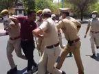 पुलिस ने दिखाया ट्रेलर, बेवजह घूमते युवकों को एम्बुलेंस में डालता देख चौंक उठे लोग, कल से बरती जाएगी पूरी सख्ती|जोधपुर,Jodhpur - Dainik Bhaskar