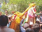 देव कारज पर प्रतिबंध लगाने पर उपायुक्त कार्यालय पहुंचे देवता, बोले-देवी-देवताओं के मंदिर बंद नहीं होने चाहिए|कुल्लू,Kullu - Dainik Bhaskar