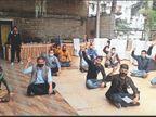 एक साल से नहीं दिया हाेटल प्रबंधक ने मजदूराें काे वेतन, यूनियन ने दिया धरना|शिमला,Shimla - Dainik Bhaskar