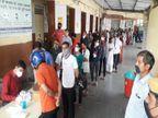 कोरोना की RT-PCR जांच के लिए हर जगह लम्बी लाइन; रोडवेज बस स्टैंड पर भी भीड़, रोजाना करीब 500 लोगों की जांच, यहां युवा ज्यादा|अजमेर,Ajmer - Dainik Bhaskar